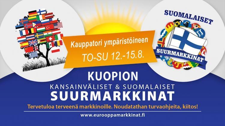 08 | Kuopion Kansainväliset & Suomalaiset Suurmarkkinat 12.-15.8.2021